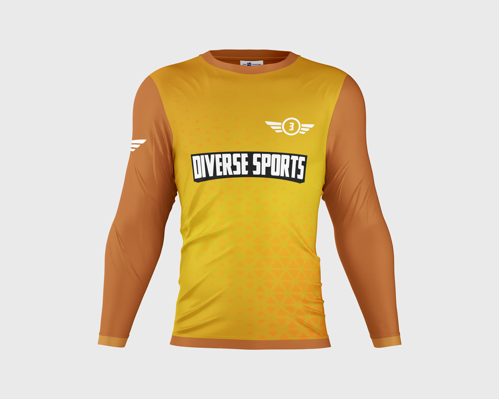 Diverse Sports Complex Mesh Active Long Sleeve Tee